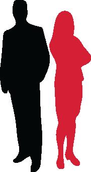 Symbolbild - zwei Personenschatten