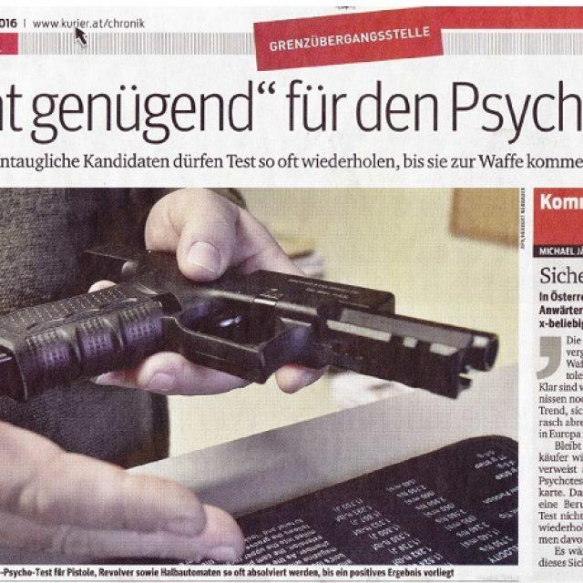 Nicht genügend für den Psycho-Test
