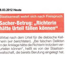 """Sacher-Betrug: """"Richterin hätte Urteil fällen können"""""""