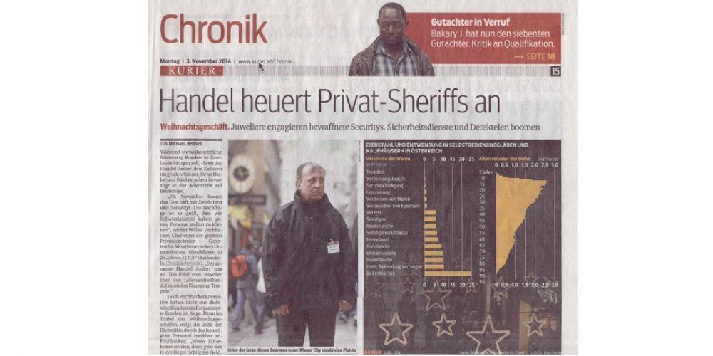 Handel heuert Privat-Sheriffs an