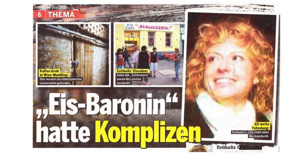 Eis-Baronin hatte Komplizen