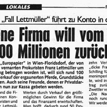 Betrogene Firma will vom dicken Franz 100 Millionen zurückholen