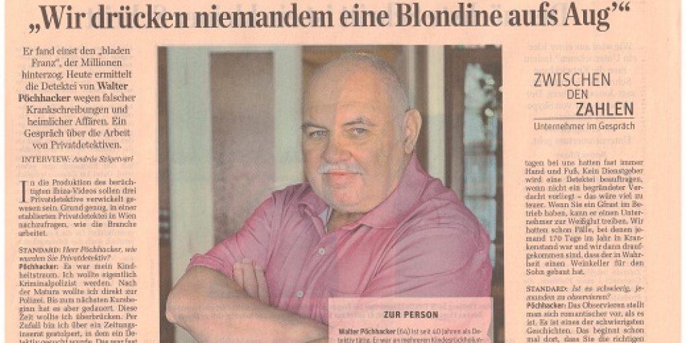 """""""Wir drücken niemandem eine Blondine aufs Aug´"""""""